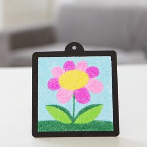 꽃 스티커 샌드아트