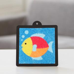 물고기 스티커 샌드아트