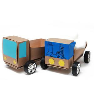 종이상자 트럭