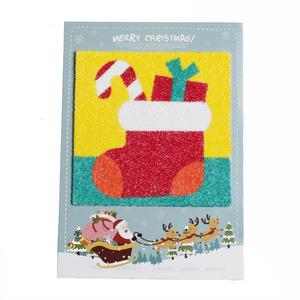 크리스마스 양말 샌드아트 카드