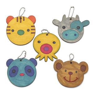 동물 팬시우드 손거울(5개)