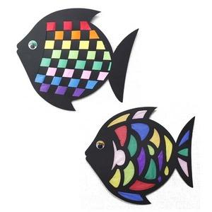무지개 직조 물고기(1개) + 페이퍼 컷 컬러 물고기(1개)